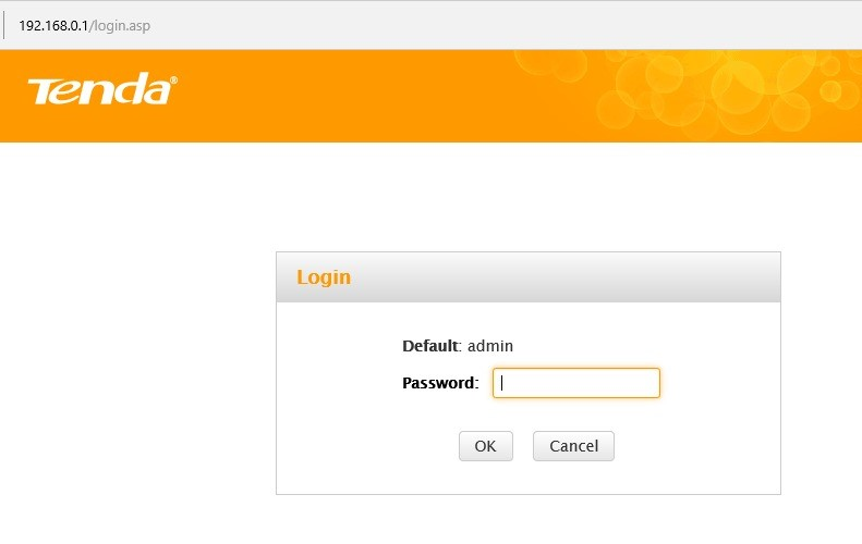 router login page